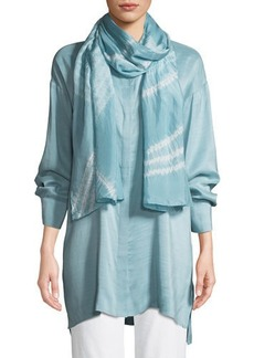 Eileen Fisher Angled Silk Shibori Scarf