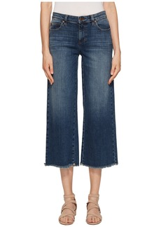 Eileen Fisher Ankle Wide Leg Jeans in Aged Indigo