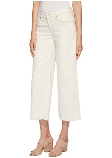 Eileen Fisher Ankle Wide Leg Jeans in Undyed Natural