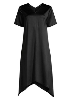 Eileen Fisher Asymmetric Short-Sleeve Dress
