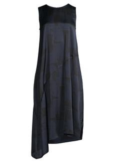 Eileen Fisher Asymmetrical Silk-Blend Dress