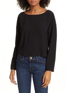 Eileen Fisher Ballet Neck Silk Top
