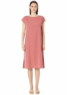 Eileen Fisher Bateau Neck Calf Length Dress