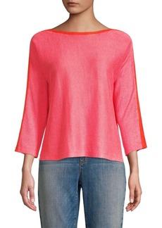 Eileen Fisher Bateau Neck Linen Sweater