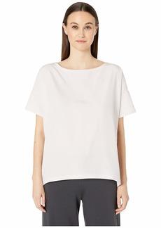 Eileen Fisher Bateau Neck Short Sleeve Top