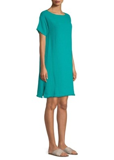 Eileen Fisher Bateau-Neckline Dress