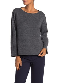 Eileen Fisher Bateau Rib Knit Sweater