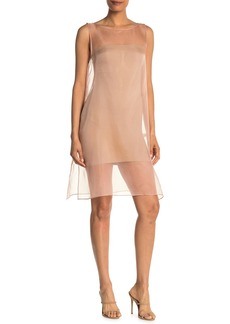 Eileen Fisher Boat Neck Silk Dress