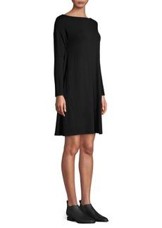 Eileen Fisher Boatneck Twist Back Shift Dress