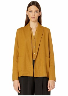 Eileen Fisher Boiled Wool Jersey Short Kimono Jacket