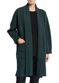 Eileen Fisher Boiled Wool Long Kimono Jacket
