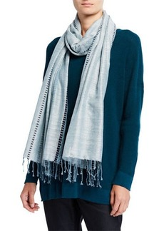 Eileen Fisher Borders Handloom Silk/Organic Cotton Scarf