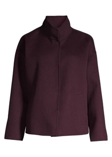 Eileen Fisher Brushed Wool & Cashmere Peacoat