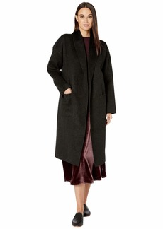 Eileen Fisher Brushed Wool Doubleface Shawl Collar Coat