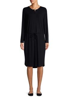 Eileen Fisher Button-Front Drawstring Dress
