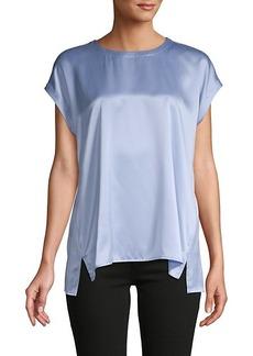 Eileen Fisher Cap-Sleeve Silk Top