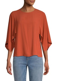 Eileen Fisher Cape Sleeve Silk Top