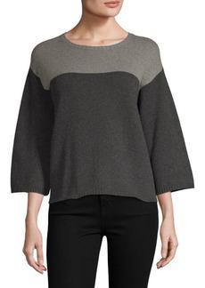 Eileen Fisher Cashmere Wool Boxy Sweater