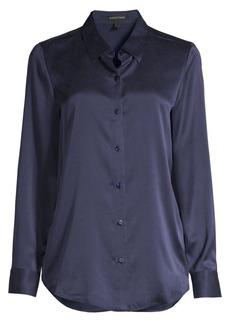 Eileen Fisher Classic Collar Silk Blouse