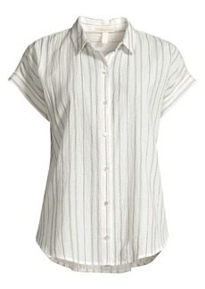 Eileen Fisher Classic Collor Stripe Shirt