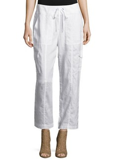 Classic Organic Linen Ankle Pants