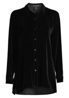 Eileen Fisher Classic Silk Velvet Shirt