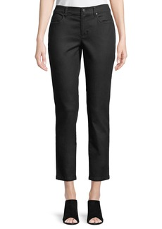Eileen Fisher Coated Skinny Ankle Jeans