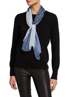 Eileen Fisher Colorblock Silk Georgette Shibori Scarf