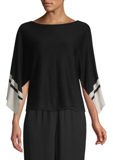 Eileen Fisher Colorblock Slit-Sleeve Sweater