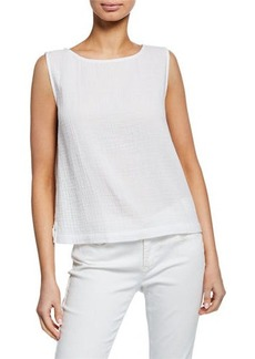 Eileen Fisher Cotton Gauze A-Line Shell