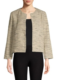Eileen Fisher Cotton Roundneck Cropped Jacket