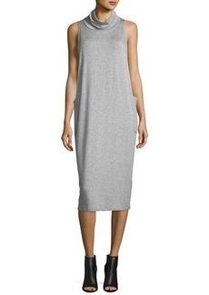 Eileen Fisher Cowl-Neck Sleeveless Knit Dress
