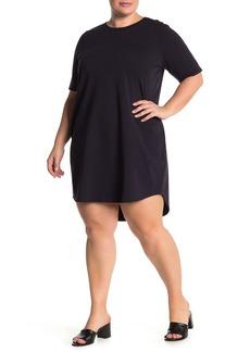 Eileen Fisher Crew Neck T-Shirt Dress (Plus Size)