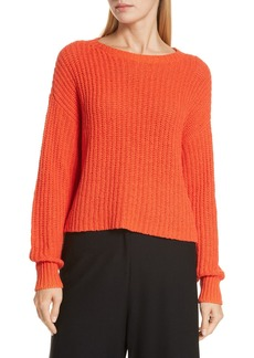 Eileen Fisher Crewneck Crop Shaker Sweater