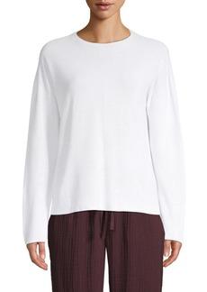 Eileen Fisher Crewneck Textured Tencel Sweater