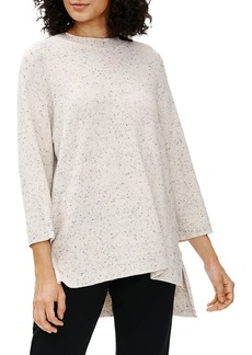 Eileen Fisher Crewneck Three-Quarter Sleeve Tunic
