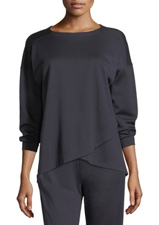 Eileen Fisher Crisscross Long-Sleeve Top
