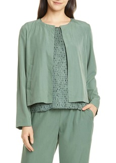 Eileen Fisher Crop Tencel Lyocell Blend Jacket