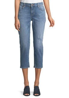 Eileen Fisher Cropped Tapered Jeans