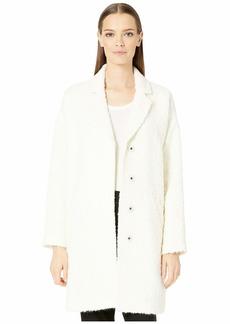 Eileen Fisher Curly Alpaca Boxy Coat