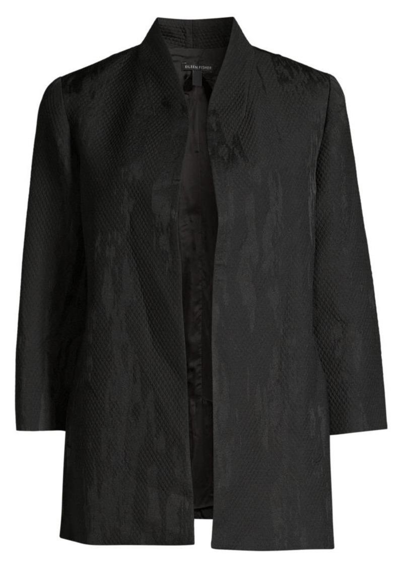Eileen Fisher Diamond Jacquard Jacket