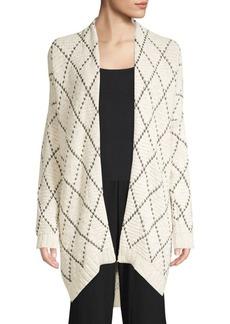 Eileen Fisher Diamond Knit Kimono Cardigan