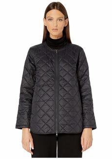 Eileen Fisher Diamond Recycled Nylon Shirttail Flight Coat