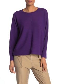 Eileen Fisher Dolman Sleeve Wool Sweater