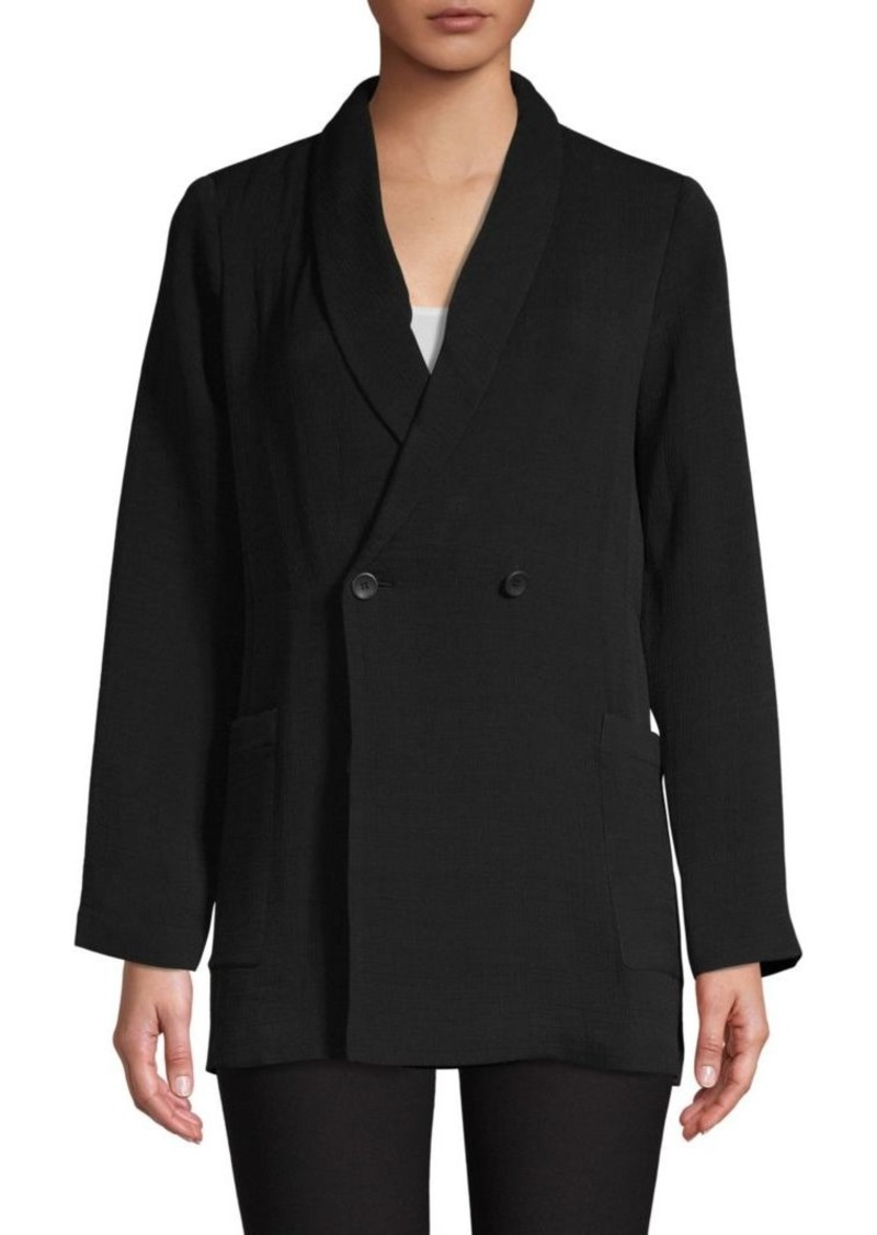 Eileen Fisher Double Breasted Jacket