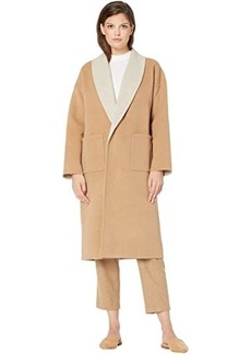 Eileen Fisher Doubleface Wool Cashmere Shawl Collar Coat