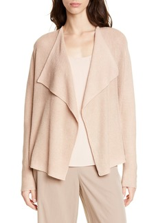 Eileen Fisher Drape Front Organic Linen & Cotton Cardigan