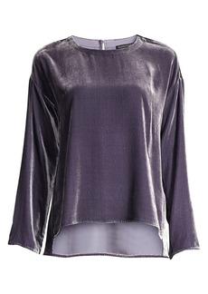 Eileen Fisher Drape Velvet Silk Top