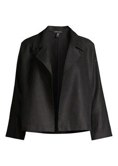Eileen Fisher Draped Open-Front Jacket