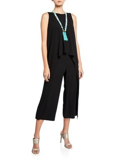 Eileen Fisher Draped Silk Crepe Jumpsuit